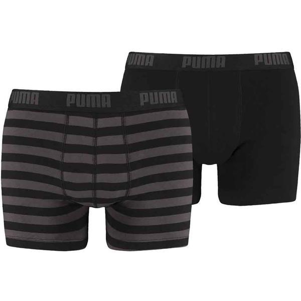 Puma Striped Boxers 2-pack - Black/Grey