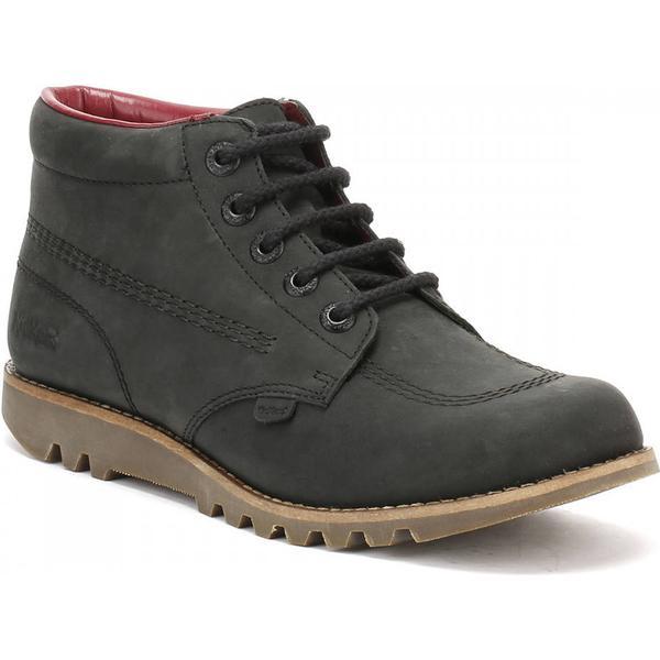 Kickers Womens Boots Black Leather Kick Hi Boots Womens e550a1