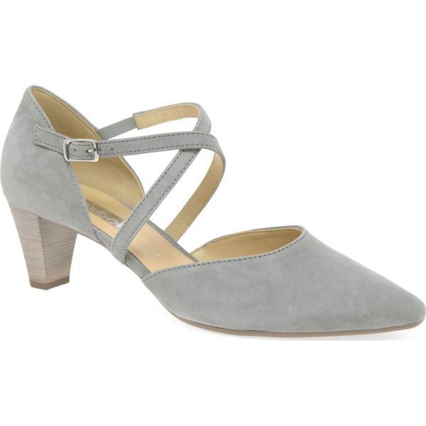 Gabor Colour: Callow Womens Dress Court Shoes Colour: Gabor Stone Suede, Size: 5.5 656404