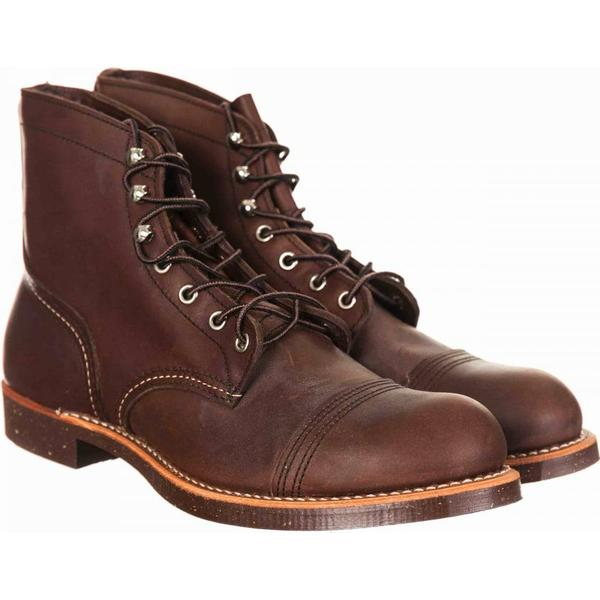 Red Wing 8111 Heritage 6 Iron Harness Ranger Boot - Amber Harness Iron Size: UK 7, 636b43