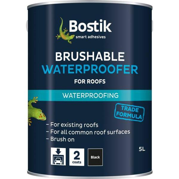 Bostik Solvent Free Waterproofer Roof Paint Black 22.5L