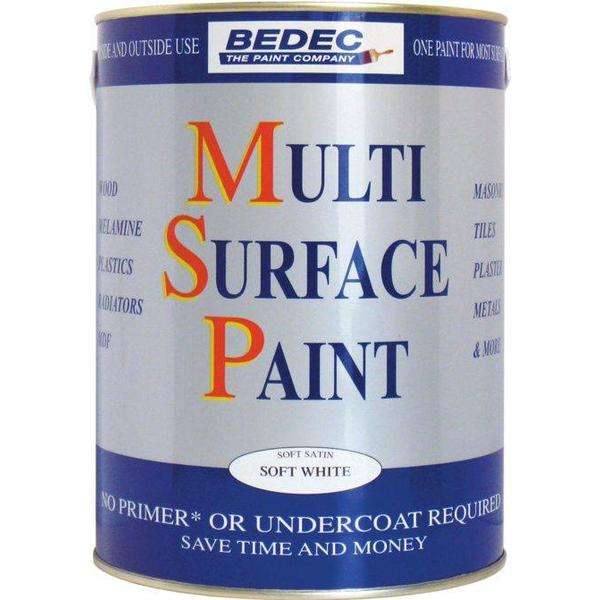 Bedec Multi Surface Wood Paint, Metal Paint White 2.5L