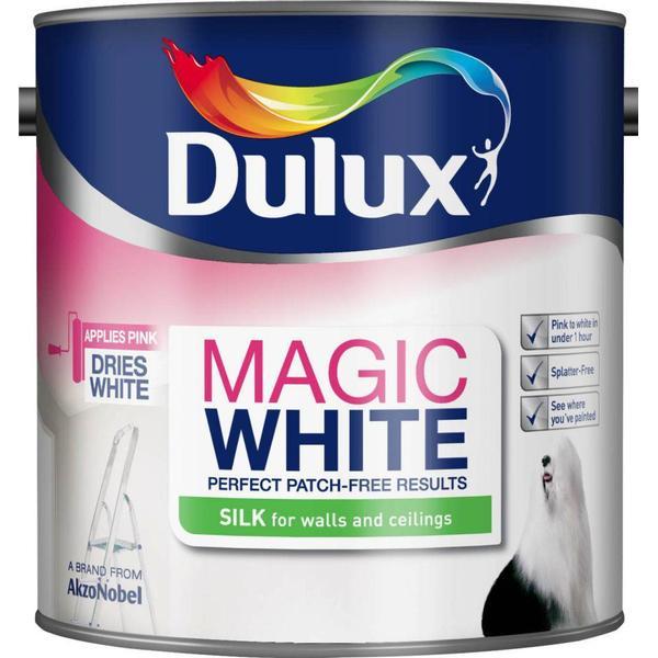 Dulux Magic White Silk Wall Paint, Ceiling Paint White 2.5L