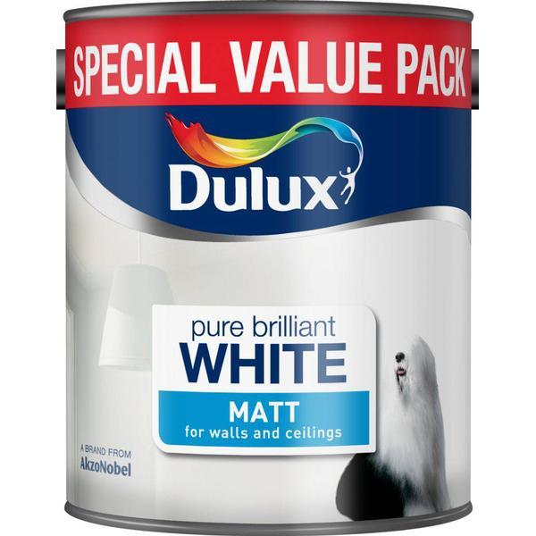 Dulux Matt Wall Paint, Ceiling Paint White 3L