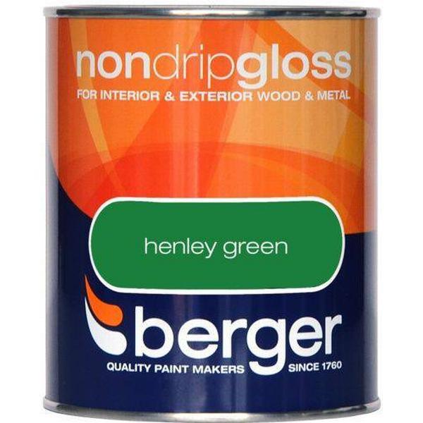 Berger Non Drip Gloss Wood Paint, Metal Paint Green 0.75L