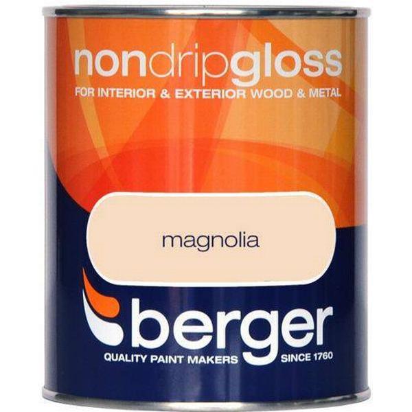 Berger Non Drip Gloss Wood Paint, Metal Paint Beige 0.75L