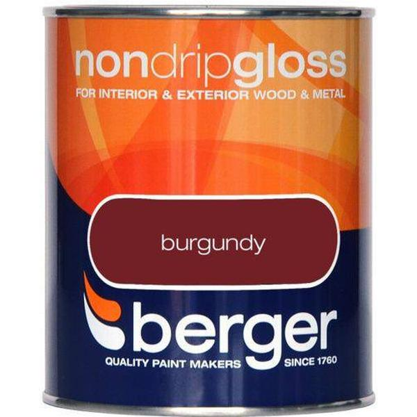 Berger Non Drip Gloss Wood Paint, Metal Paint Brown 0.75L