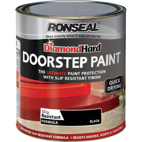 Ronseal Diamond Hard Door Step Concrete Paint Black 0.25L