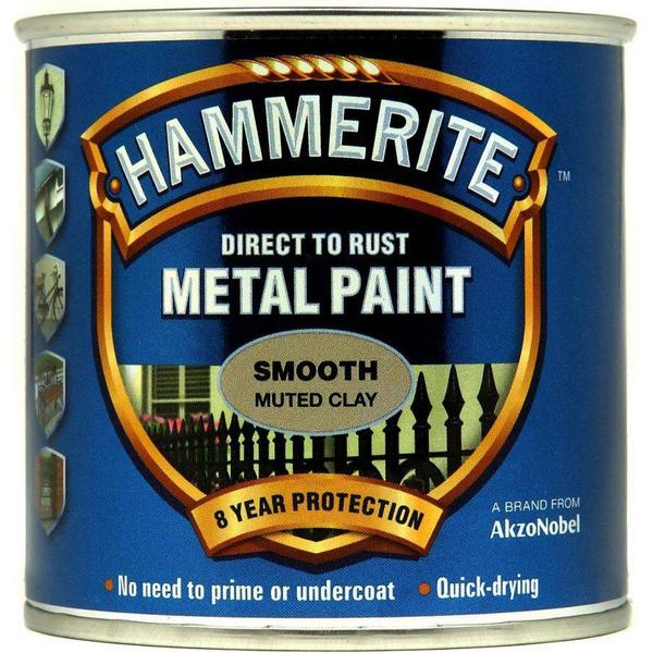 Hammerite Direct to Rust Smooth Metal Paint Beige 0.25L