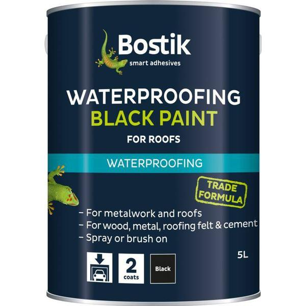 Bostik Bituminous Roof Paint Black 5L