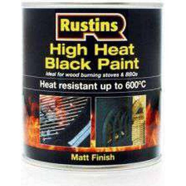 Rustins High Heat Metal Paint Black 0.25L
