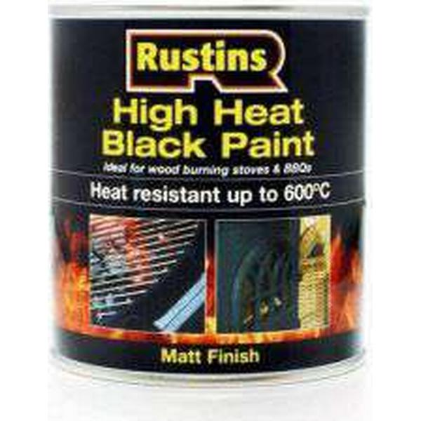 Rustins High Heat Metal Paint Black 0.5L