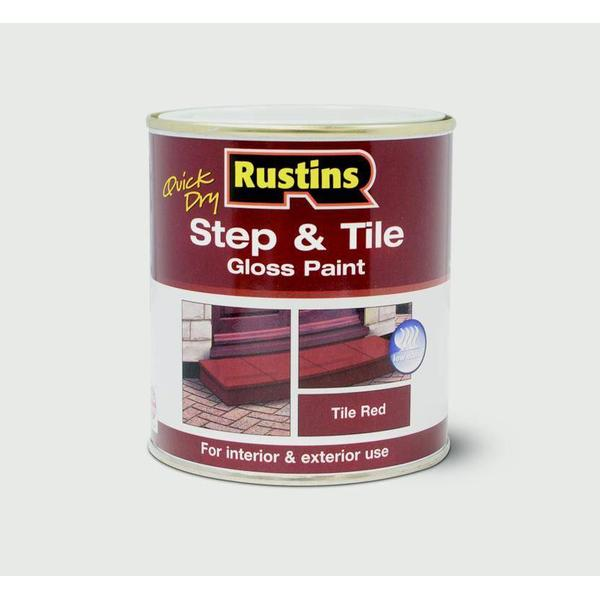 Rustins Quick Dry Step & Tile Floor Paint Red 0.25L