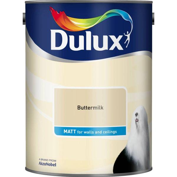 Dulux Matt Wall Paint, Ceiling Paint Yellow 5L