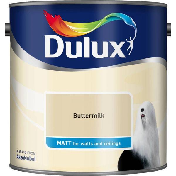 Dulux Matt Wall Paint, Ceiling Paint Yellow 2.5L