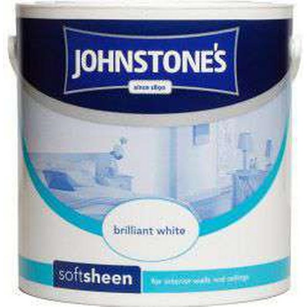 Johnstones Soft Sheen Wall Paint, Ceiling Paint White 5L