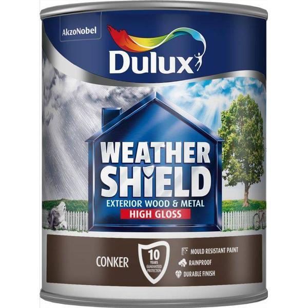 Dulux Weathershield Exterior Wood Paint, Metal Paint Brown 0.75L