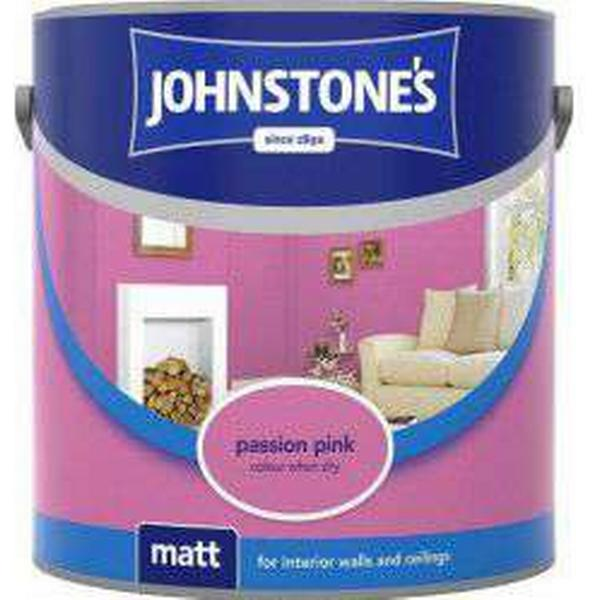 Johnstones Matt Wall Paint, Ceiling Paint Pink 2.5L