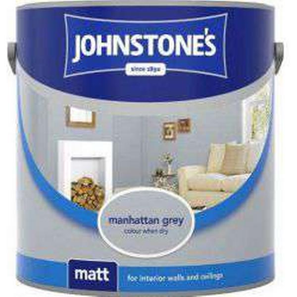 Johnstones Matt Wall Paint, Ceiling Paint Grey 2.5L