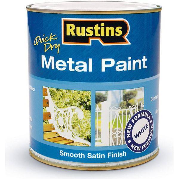 Rust-Oleum Quick Dry Metal Paint White 0.25L