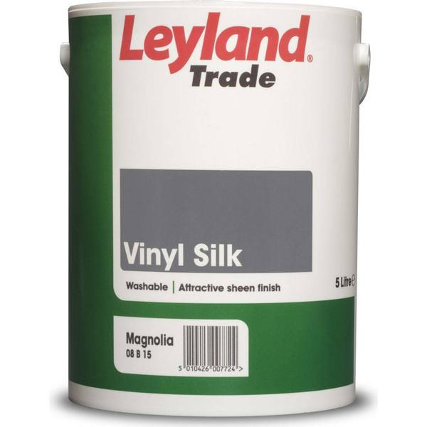 Leyland Trade Vinyl Silk Wall Paint, Ceiling Paint Black 5L