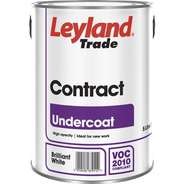 Leyland Trade Contract Undercoat Wood Paint, Metal Paint White 2.5L