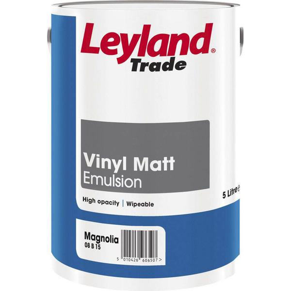 Leyland Trade Vinyl Matt Wall Paint, Ceiling Paint Beige 5L