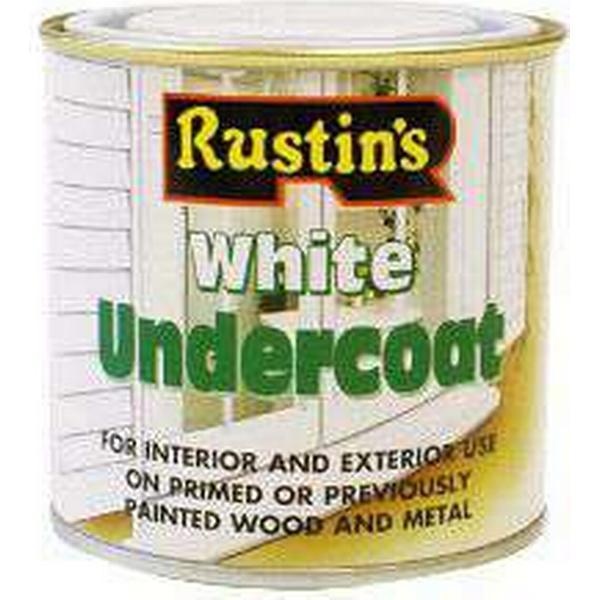 Rustins Undercoat Wood Paint, Metal Paint White 0.25L