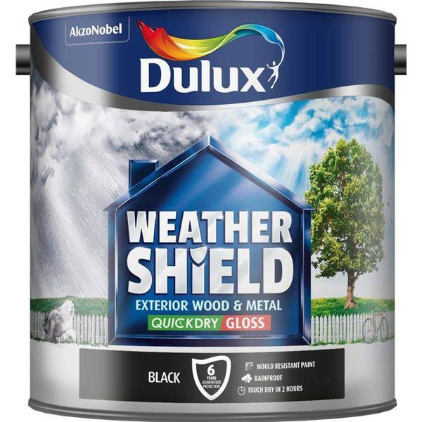 Dulux Weathershield Exterior Wall Paint, Metal Paint Black 2.5L