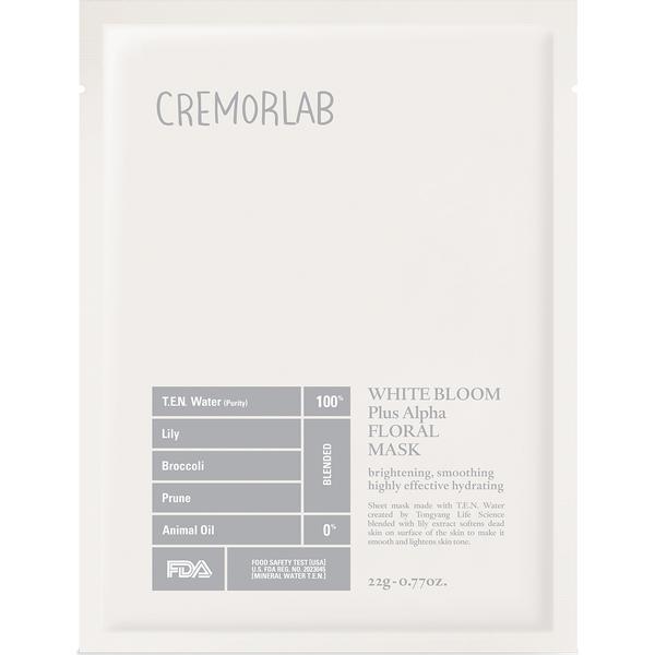 Cremorlab White Bloom Triple Bright Floral Mask 22g
