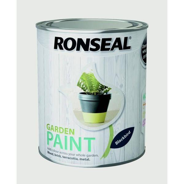 Ronseal Garden Wood Paint Black 0.75L
