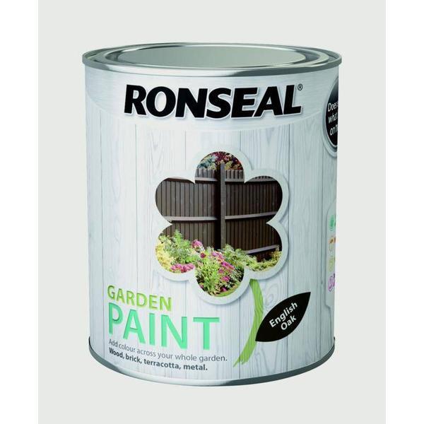 Ronseal Garden Wood Paint Brown 0.75L