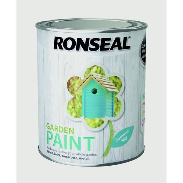 Ronseal Garden Wood Paint Blue 0.75L