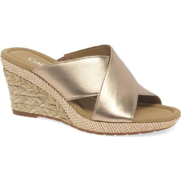 Gabor Purpose Rame Womens Modern Sandals Colour: Rame Purpose Luxor Metallic, Size: 45372a