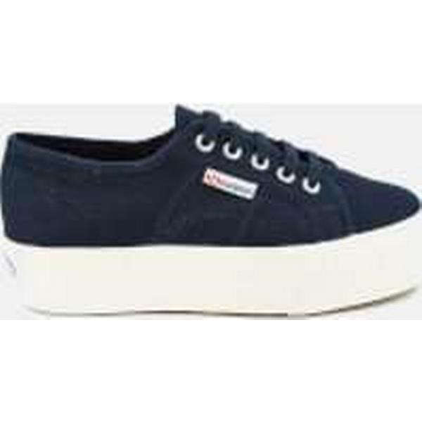 Superga Women's 2790 Linea Up Navy Down Flatform Trainers - Navy Up 2d198a