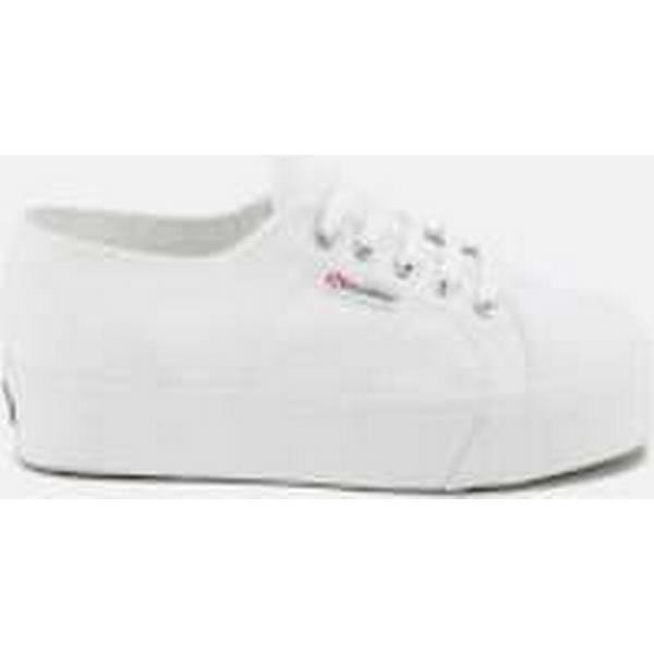 Superga Women's Flatform 2790 Linea Up Down Flatform Women's Trainers - White 77808a