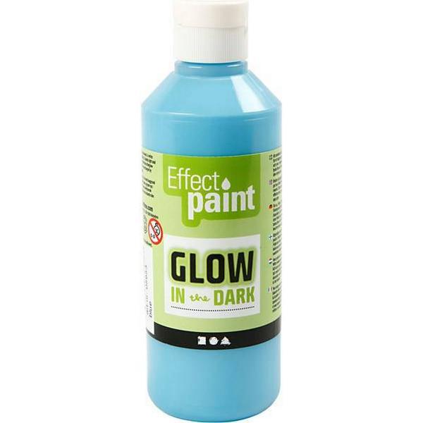 Glow in the Dark Paint Fluorescent Light Blue 250ml