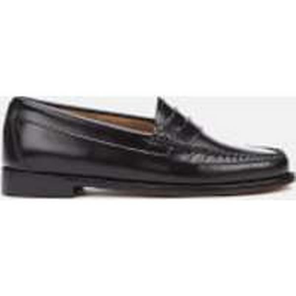 Bass Weejuns Women's Penny Leather Loafers - Black Black - UK 7 - Black Black 788ac1