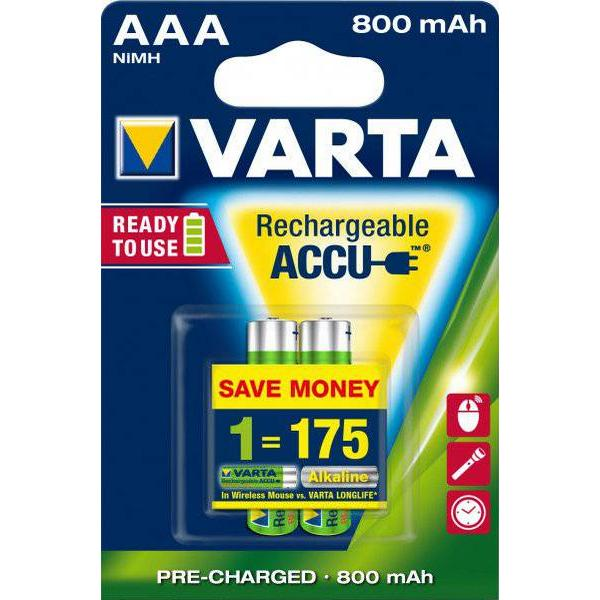 Varta AAA Accu Rechargeable Power 800mAh 2-pack