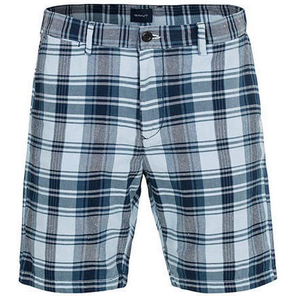 Gant Regular Madras Check Shorts Classic Blue