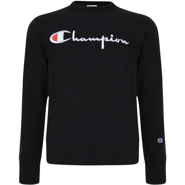 Champion Script Logo Reverse Weave Sweatshirt Black