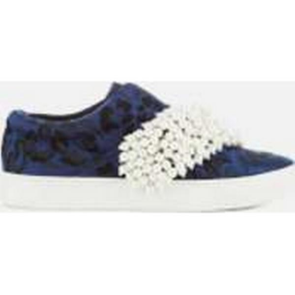 KG Embellished Kurt Geiger Women's Ottis Embellished KG Top Slip-On Trainers - Blue 4765a7