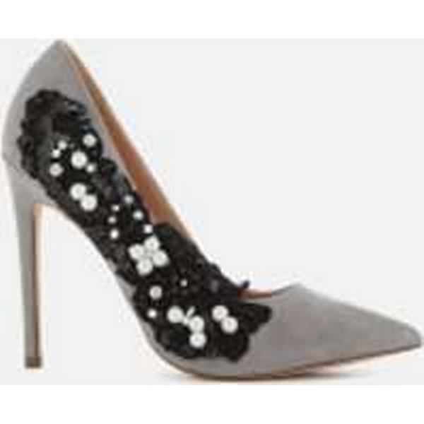 KG Kurt Court Geiger Women's Bounty Embellished Side Court Kurt Shoes - Grey dd930a
