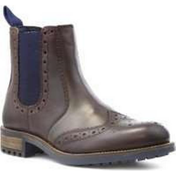 Catesby Mens Brown Leather Brogue Boot Chelsea Boot Brogue dda0d5