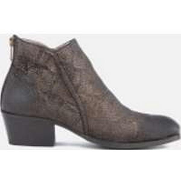 Hudson London Women's Apisi Boots Leather Metallic Heeled Ankle Boots Apisi - Pewter a60aed