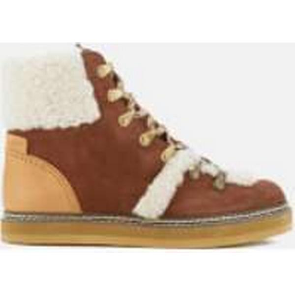See By Chloé Boots Women's Suede Shearling Lined Hiking Boots Chloé - Tan 6b64de
