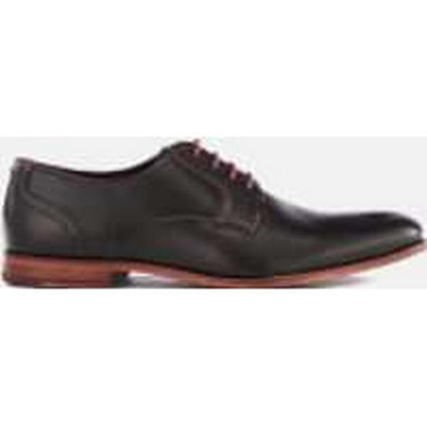 Ted Derby Baker Men's Iront Leather Derby Ted Shoes - Black 81af9d