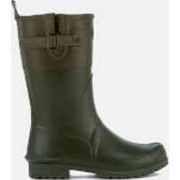 Barbour Women's Colour Block Short Kelp/Khaki Wellies - Kelp/Khaki Short 8c9664