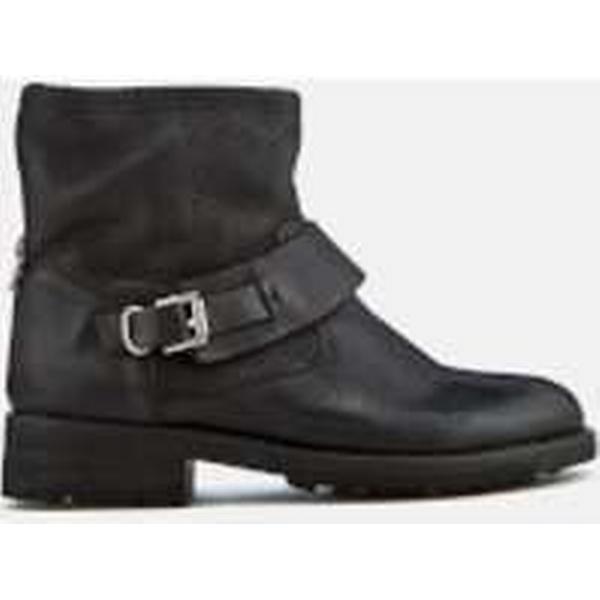 Hudson London Women's - Mac Leather Biker Boots - Women's Black e4cc8e