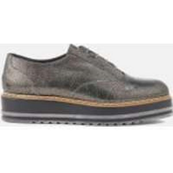 Dune Women's UK Follow Leather Oxford Shoes - Pewter - UK Women's 8 - Silver a331ff